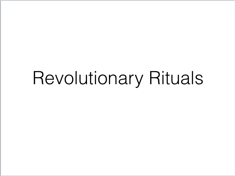 Revolutionary Rituals cover